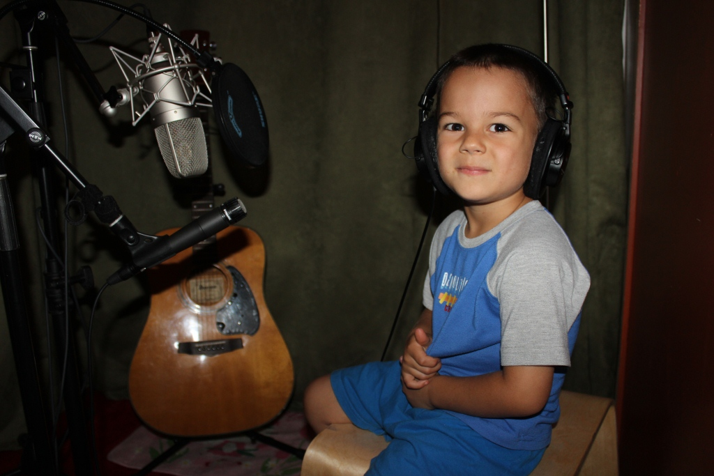 "4 year old Zorion recorded 2 tracks for ""At First Light"" Volume 1"